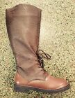 Brown WW II Mens Army Captain Calvary Pilot Costume Riding Boots size 11 12 13
