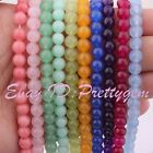 Pretty 6mm Round Smooth Jade Jewelry Mkaing Spacer Loose Gemstone Beads Strand 1