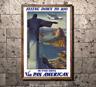 Pan Am - Flying Down to Rio - in 5 days - Vintage Airline Travel Poster