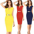 Fashion Womens Sexy Bandage Fitted Evening Cocktail Party Pencil Dress S/M/L/XL+