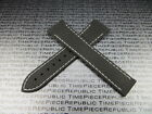 22mm 20mm Deployment Rubber Strap Diver Curve Edge Black Watch Band W1 for OMEGA