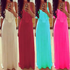 Womens Playful Bohemian Spaghetti Strap Sleeveless Lace Long Beach Maxi Dress KZ