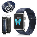 Genuine Leather iWatch Band Strap+Classic Metal Buckle for Apple Watch 38mm/42mm