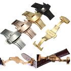 Double Push Button Fold Butterfly Deployment Watch Bands Strap Buckle Clasp