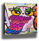 KIDS ROOM OWL GRAFFITI STREET ART HIGH QUALITY MODERN CANVAS PRINT WALL DECOR