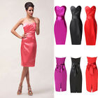 Elegant Short Bow Cocktail Prom Ball Evening Party Dress Split Homecoming Dress