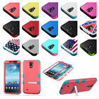 TUFF Dual Layer Hybrid Hard Case Phone Stand Cover For Samsung Galaxy Mega 6.3