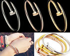 Stylish Trendy 3 Colors Chic Gold Plated Silver Plated Nail Bracelet New TOUS