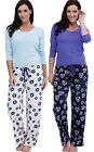 2 Pack Of Ladies Socks Uwear« Owl Print Winter Long Pyjama pajama Sleepwear