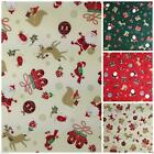 Santa & friends Christmas fabric 100 % cotton per fat quarter/half metre