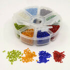 1x Mixed Transparent Silver Lined Loose Spacer Mini Glass Seed Beads 2mm/3mm/4mm