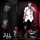 punk visual Devil rock masterpiece silver chain dress pants w/ fanny pack GA316