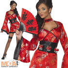 Sexy Geisha Ladies Japanese Fancy Dress National Dress Costume 8 - 14