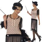 Ladies Sexy 1920s Coco Flapper Gatsby Fancy Dress Costume Outfit Size 8-18