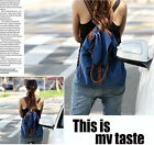 Women's Vintage Casual Canvas Backpack Rucksack School Shoulder Bag BA637-638