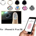 Lot Aluminium Cartoon Home Button Sticker Support Touch ID For iPhone 5S 6 Plus
