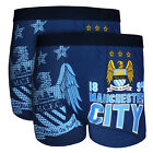 Manchester City FC Official Gift 2 PAIR Pk Mens Crest Boxer Shorts (RRP £19.99!)