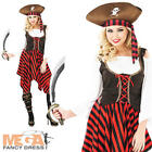 Pirate Lady Fancy Dress Ladies Pirates Halloween Party Womens Costume Outfit New