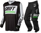 NEW 2016 SHIFT RACING RECON MX DIRTBIKE OFFROAD GEAR COMBO BLACK/WHITE ALL SIZES
