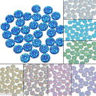 100PCs AB Colour Rhinestone Mini Resin Baby's Breath Embellishment Round