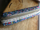 Make up Case Bag Lace Floral Classic Blossom Shabby Chic Handbag Travel Unusual