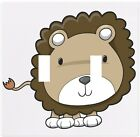 Lion Cub Big Head Wallplate Wall Plate Decorative Light Switch Plate Cover