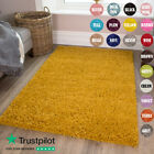 MODERN SMALL EXTRA LARGE THICK DENSE 5CM PILE SOFT PLAIN NON SHED LOUNGE RUGS