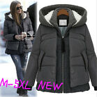 2015 fashion korea style womens ladies coat thick winter hooded Jacket warm size