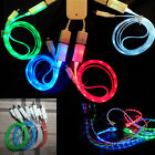 4 Color LED Lights USB Charger Data Sync Cable For Samsung Galaxy S4 HTC Android