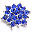10/50pcs Stick On Charms Colorful Rhinestone Alloy Flower Shape Embellishments J