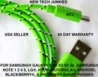 NTJ 6ft Braided Micro USB power cord Charger Cable for samsung s6 s6+ s7 HTC LG