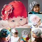 New Unique Baby Kid Infant Girl Cute Flower Soft Cap Hat Beanie 0-3 Years KZUK