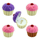 Cute Cake Cup Shape Velvet Ring Box Earring Pendant Locket Jewelry Case