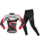 NCY Men Long Sleeve Cycling Polyester +Coolmax Jersey and Pant Wear Size M-XXL