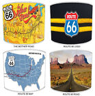 Historic Route 66 Lampshades Ideal To Match Route 66 Duvets & Route 66 Cushions.