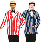 1920s Old English Jacket + Hat Mens Fancy Dress 20s Victorian Adults Costume