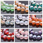 10pcs 14x8mm Rondelle Drum Shape Faceted Crystal Glass Loose Craft Design Beads