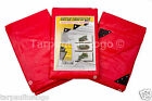 Red Heavy Duty Tarpaulin 200GSM Waterproof Festival Ground Sheet Cover Tarp