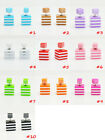 Fashion Candy Color Rainbow Double Side Two Square Earrings Stud Stripe Hawthorn