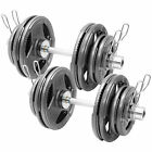 """MIRAFIT Olympic 2"""" Dumbbells Tri Grip Weight Set Cast Iron Dumbell/Free Weights"""