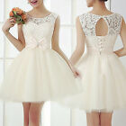 Womens Lace Bodycon Evening Party Short Mini Dress Wedding Bridesmaid EW UK 03