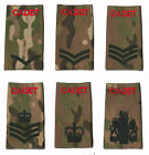 PAIR Regulation Multi-Terrain ACF / CCF Rank Slides CADET Red on MTP / Multicam