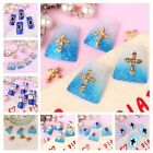 10x DIY Decorations 3D Metallic Crystal Rhinestone Nail Art Tip Glitter Stickers