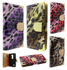 For LG Leon C40 Premium Leather Wallet Flip Phone Cover Crocodile + Screen Guard
