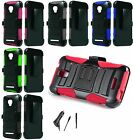 For Alcatel Pop Star 2 Robotic Holster Belt Clip Stand Case CAR CHARGER STYLUS