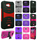 Kyocera Hydro Wave C6740 Hard Gel Rubber KICKSTAND Case Phone Cover Accessory