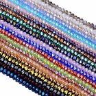 4x6mm Faceted Abacus Rondelle Crystal Glass Loose Beads Charm Jewelry Findings