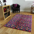New Small Large Purple Modern Rugs Quality Bright Easy Clean Living Room Mats