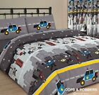 POLICE COPS AND ROBBERS KIDS BOYS GIRLS DUVET SET SINGLE DOUBLE SIZE OR CURTAINS