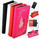 Fold Butterfly Leather Flip Wallet Case Cover For Samsung Galaxy Express 2 G3815